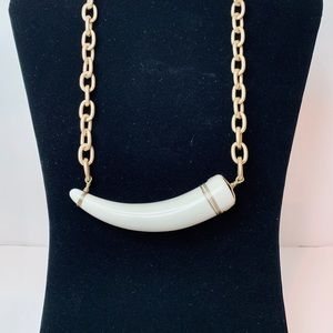 Jewelry - White Bone & Gold Tribal Statement Necklace